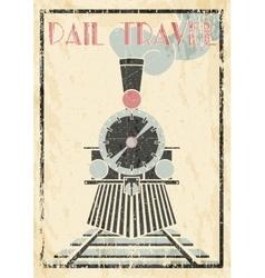 grunge vintage Of Steam vector image vector image