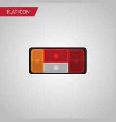isolated taillight flat icon headlight vector image
