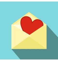 Love letter flat icon vector image