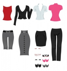 office clothes vector image