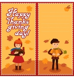 Thanksgiving day card with congratulations vector
