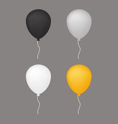 white grey balloon vector image