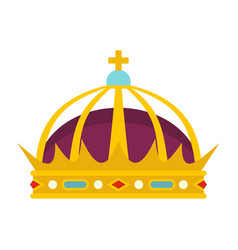 crown icon flat style vector image