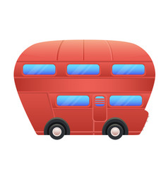 red bus on white background vector image