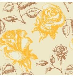 yellow roses pattern vector image