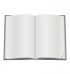 blank open book vector image vector image