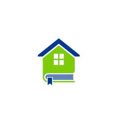 book house education logo vector image vector image
