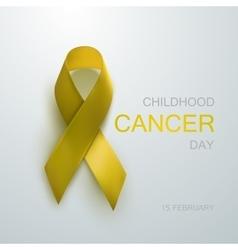 Childhood Cancer Awareness Yellow Ribbon vector image