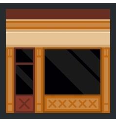 Clothes Store Building Facade vector image