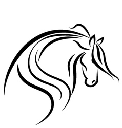 Horse stylized swoosh vector