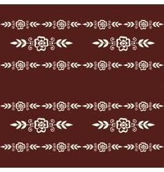 Mehendi pattern vector image vector image