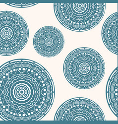 seamless pattern with curly circles pastel vector image vector image