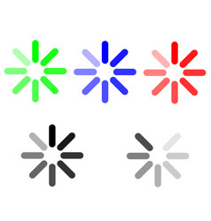 Symbol loading green blue red grey vector