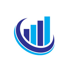 abstract finance building logo vector image vector image