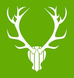 deer antler icon green vector image vector image