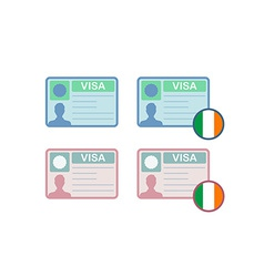 Icons of Visa to Ireland vector image vector image