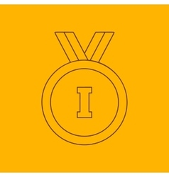 1st place medal line icon vector image