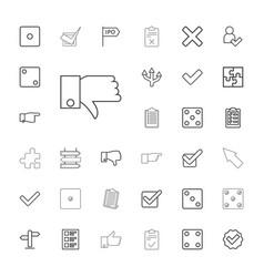 33 choice icons vector