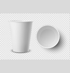 3d realistic disposable opened empty paper vector