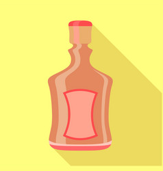 Alcohol bottle icon flat style vector