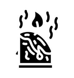 Aroma candles glyph icon sign vector