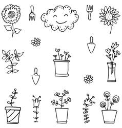 art of spring doodle set vector image
