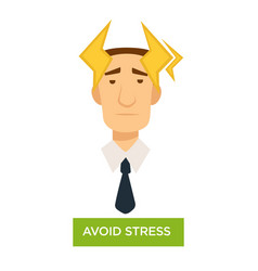 avoid stress office worker with strong headache vector image