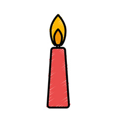 Birthday candle icon vector