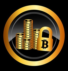bit coin vector image