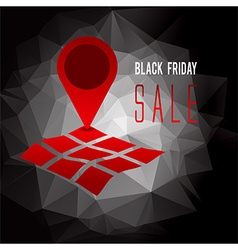 Black Friday sale promo text vector image