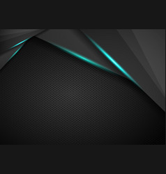 black metallic background triangle and corner vector image