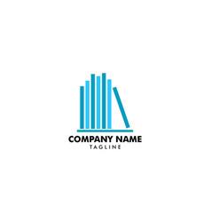 book logo template icon design elements vector image