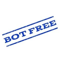 Bot Free Watermark Stamp vector image