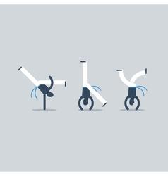 Capoeira acrobatics on hands vector
