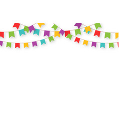 Carnival garland with flags decorative colorful vector