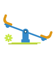 Carousel rocker for children amusement isolated on vector