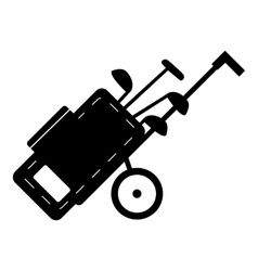 Cart for golf clubs icon simple style vector