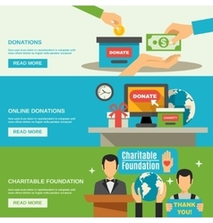 Charity Banners Set vector image