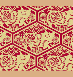 chinese traditional oriental ornament background vector image