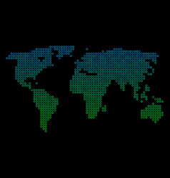 circle dot world map vector image