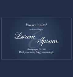 Collection of wedding invitation simple style vector