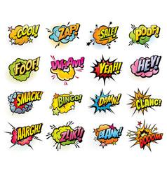 comics speech bubbles and sound blast icons vector image