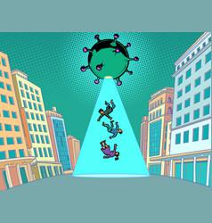 Coronavirus epidemic as an alien invasion an vector