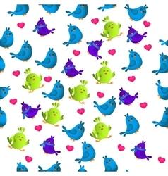 cute colorful bird vector image