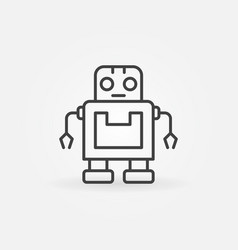 Cute robot icon or symbol in line style vector