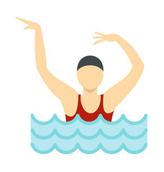 dancing figure in a swimming pool icon flat style vector image