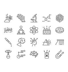 data science icon set vector image