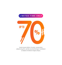 Discount up to 70 limited time only template vector
