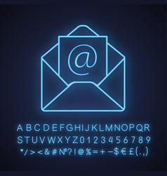 E-mail address neon light ico vector