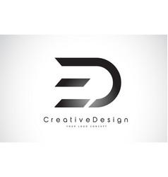 Ed e d letter logo design creative icon modern vector
